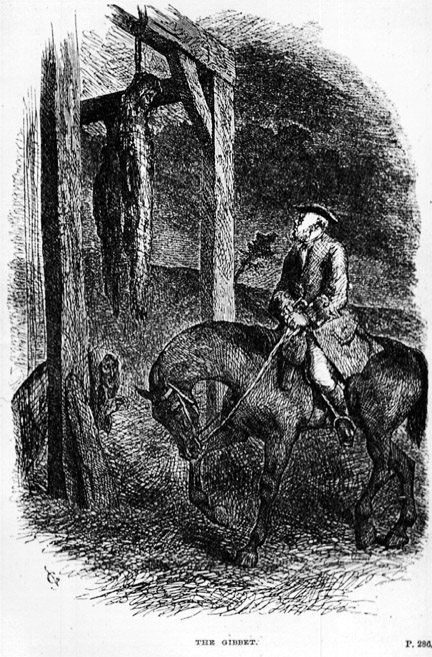 'The Gibbet' by George Cruikshank, Rookwood 4th edition (1835)