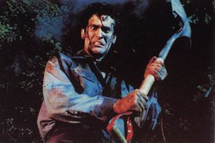 Hail to the King baby. Bruce Campbell in Sam Raimi's cult classic Evil Dead II (1987)