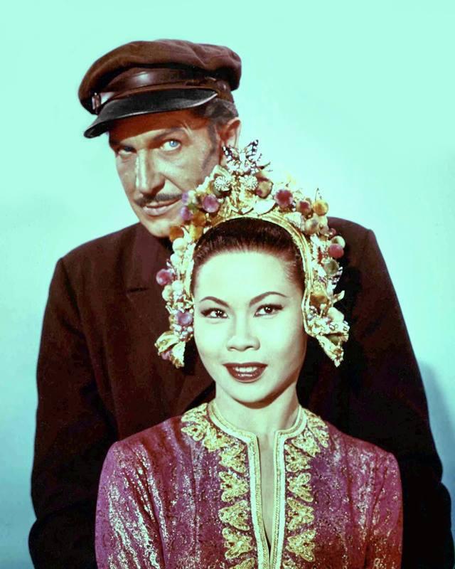 Vincent Price and Linda Ho